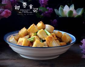 蒜苔炒馒头丁