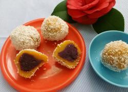 南瓜紫薯椰蓉球