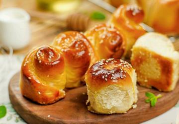 零難度脆底蜂蜜小面包
