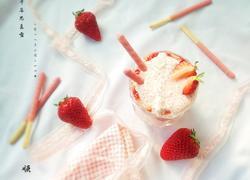 草莓麦片思慕雪