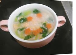 鲜虾面絮汤