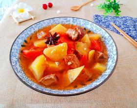 牛肉西红柿地瓜汤