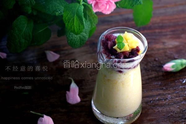 菠萝八宝饮