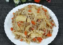 腐竹肉丝炒米粉
