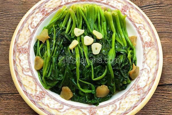猪油渣炒菠菜