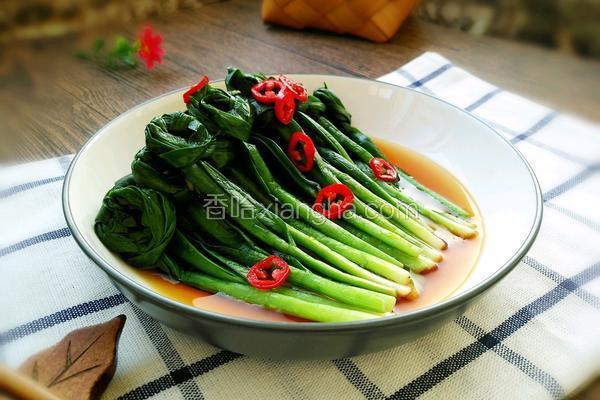 凉拌韭菜结