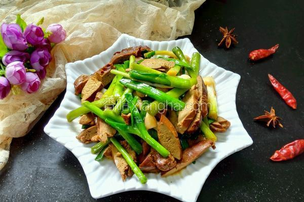 大蒜炒鸭肝