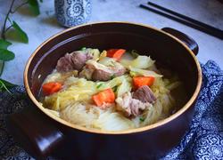 白菜羊肉粉丝煲