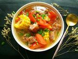 番茄胡萝卜玉米风干排骨汤(电饭煲版)的做法[图]