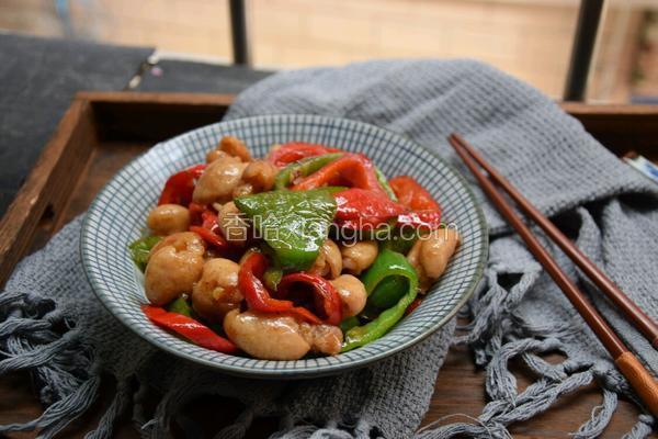 双椒炒肥肠