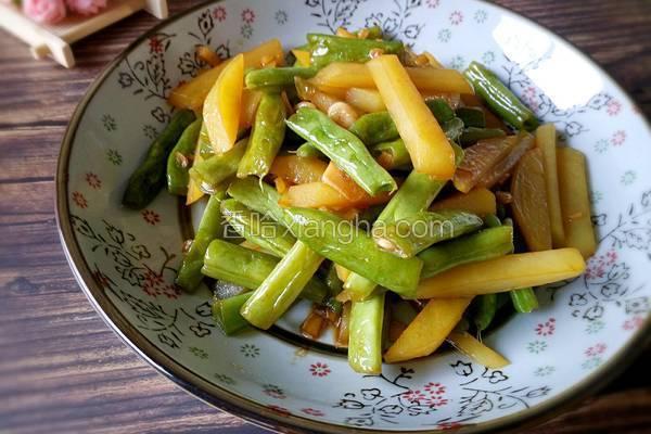 四季豆炒土豆