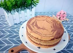 六寸斑马纹戚风蛋糕