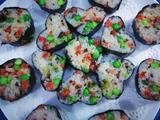 香肠豌豆海苔饭卷的做法[图]