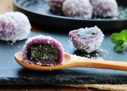 黑芝麻紫薯糯米糍