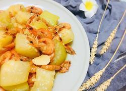 鲜味小海虾焖节瓜
