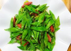 扁豆炒蒜肠