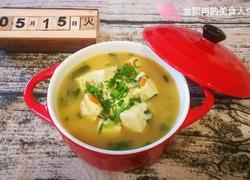葱香虾皮豆腐汤