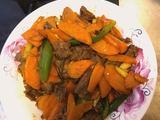 牛肉炒胡萝卜(芹菜、洋葱)的做法[图]