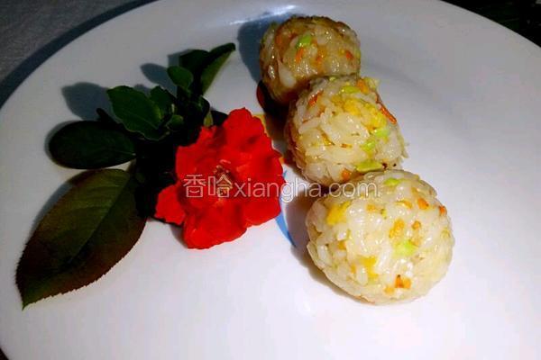 海鲜杂蔬小饭团 让孩子爱上吃饭