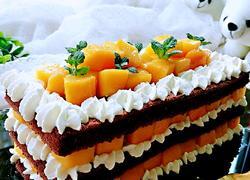 芒果奶油裸蛋糕