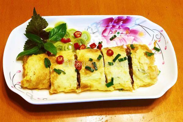 虾滑香菇鸡蛋卷