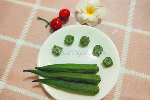宝宝辅食虾酿秋葵