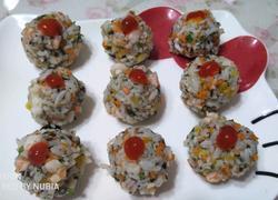 海鲜蔬菜饭团