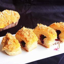 肉松蓝莓面包的做法[图]