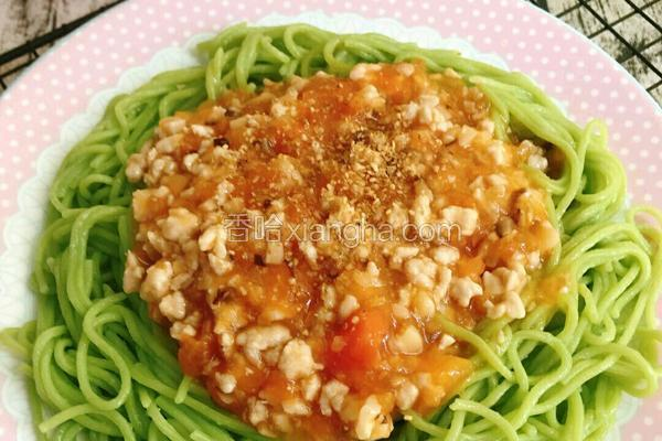 番茄肉酱菠菜面教学