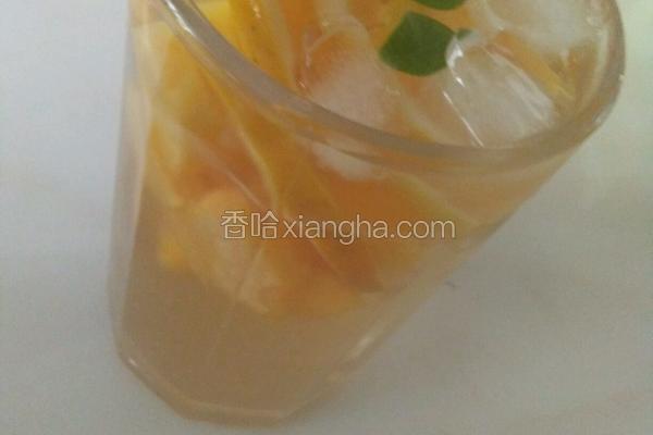 黄桃香橙果茶
