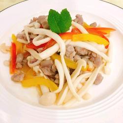 海鲜菇炒肉沫的做法[图]
