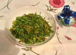青椒炒毛豆