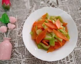 西葫炒胡萝卜