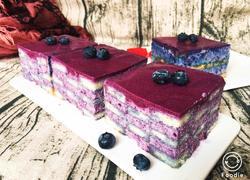蓝莓慕斯蛋糕+6寸方模