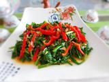 下饭菜—红椒炒韭菜的做法[图]