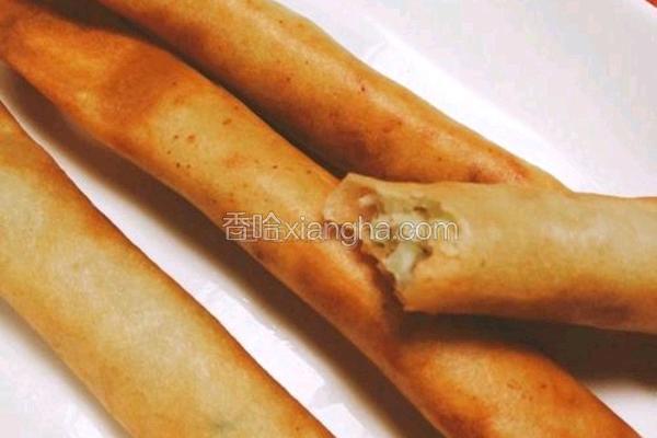 白菜香菇春卷