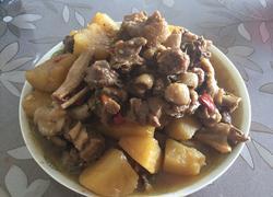 家常简易版-土豆焖鸭
