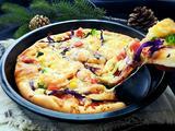 什锦蔬菜鲜虾披萨的做法[图]