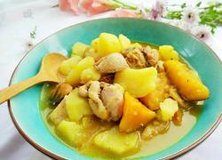 南瓜土豆炖鸡腿