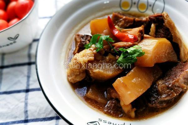 广式萝卜焖炖牛腩