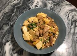 豆腐炒肉丝