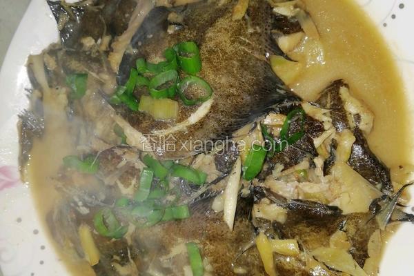 红烧鼓眼鱼(木叶鲽)