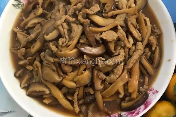 香菇平菇炒肉丝