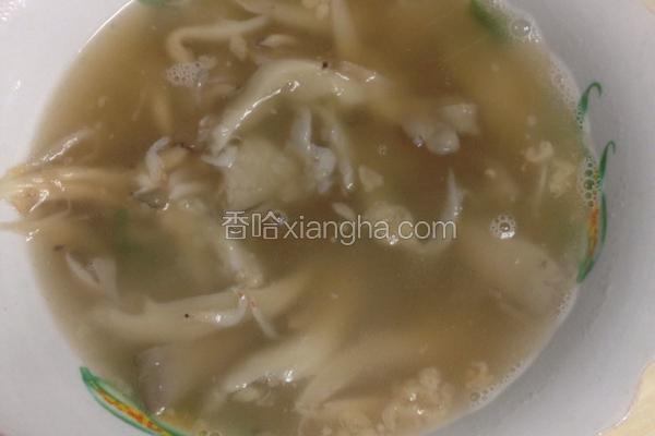 营养平菇汤