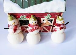圣诞雪人造型馒头系列(一)