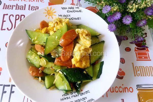 黄瓜火腿炒蛋