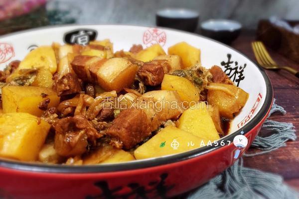 红烧肉炖土豆酸菜