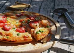虾仁草莓披萨