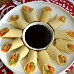 豆腐皮素菜卷