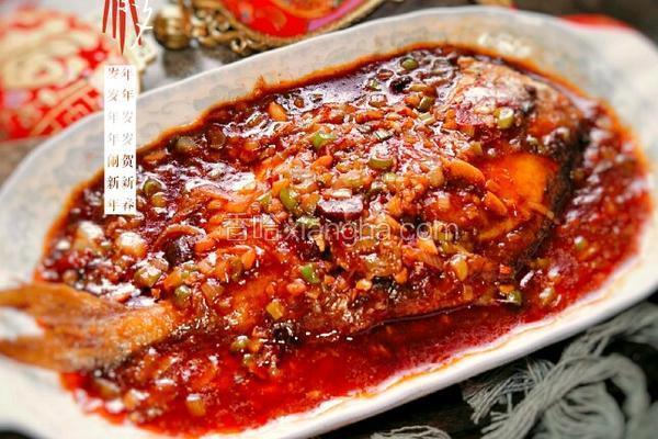 豆瓣酱烧平鱼